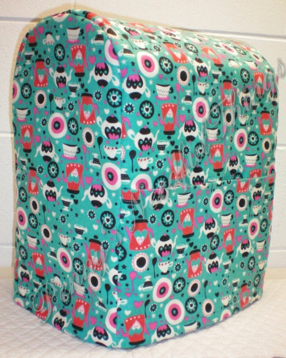 Teal Coffee Amp Tea Cover For Kitchenaid Lift By