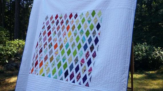 Modern Queen Quilt, Twin Quilt, Bedding, Double Quilt, Modern Quilt, Quilts, Blankets, Contemporary Quilt, Home & Living, Handmade