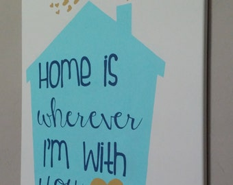 Home is Wherever I'm With You Painting