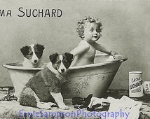Velma Suchard Cocao Suchard Soluble Trade Card, Real Photograph 1900 -1920