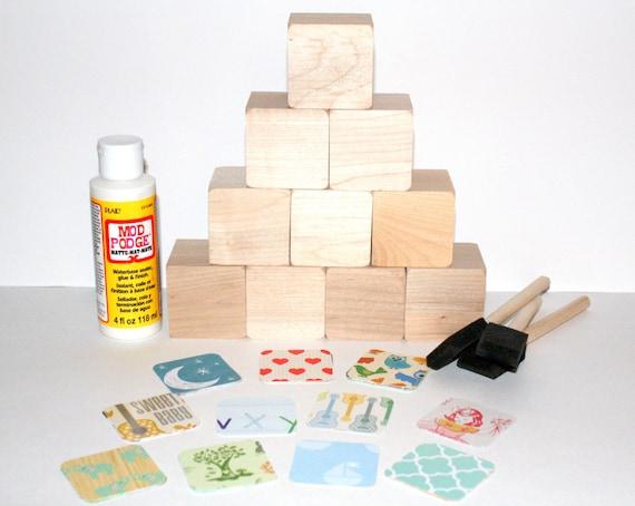 Baby shower activity craft baby shower gift wooden for Child craft wooden blocks