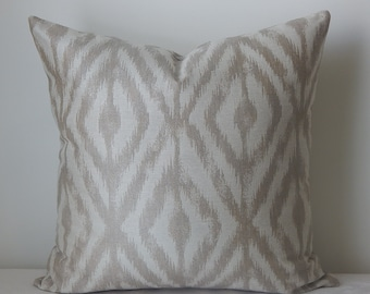 Kravet designer ikat fabric, pillow cover, throw pillow,decorative pillow,printed fabric front and back