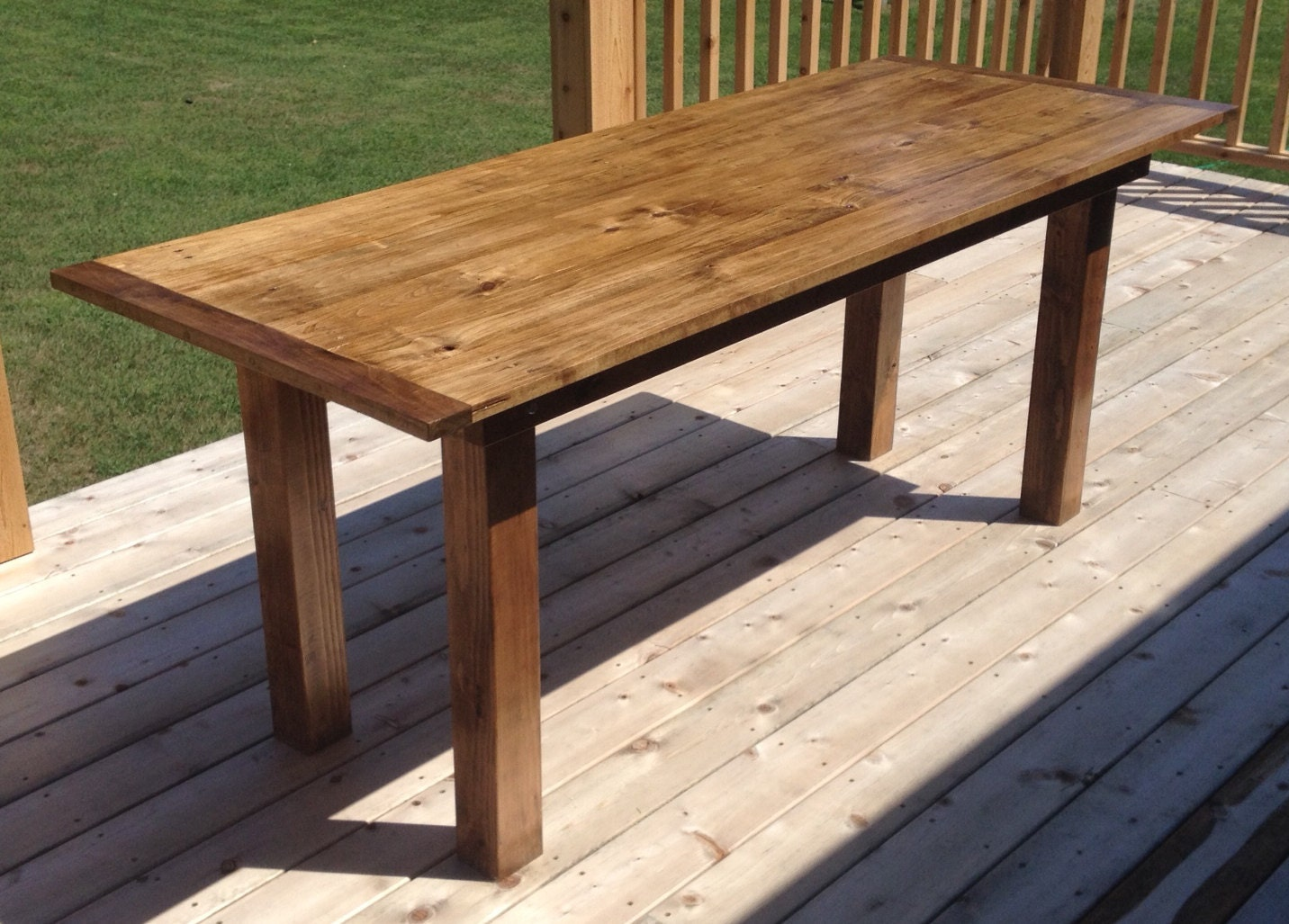farm style dining table by weberswoodwork on etsy. Black Bedroom Furniture Sets. Home Design Ideas