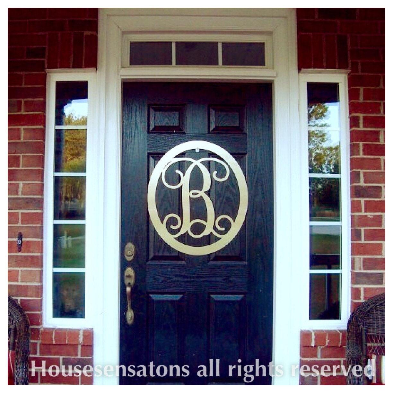 Monogrammed Door Wreath 22 Monogram Door By Housesensations