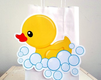 Rubber Ducky Goody Bags, Rubber Ducky Favor Bags, Rubber Ducky Gift Bags