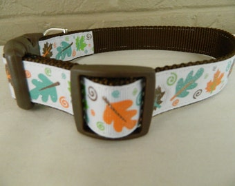 Autumn Leaf Sparkle Dog Collar