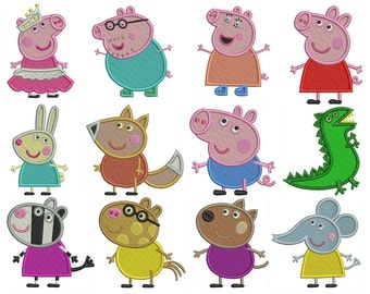 PEPPA PIG - Machine Embroidery - Patterns - Instant Digital Download