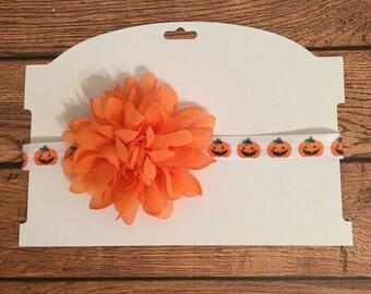 Orange Flower Halloween Headband