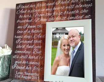 Father Of The Bride Gift - Personalized Picture Frame - Custom Wedding Picture Frame - Personalized Gift For Dad - Custom Wedding Frame