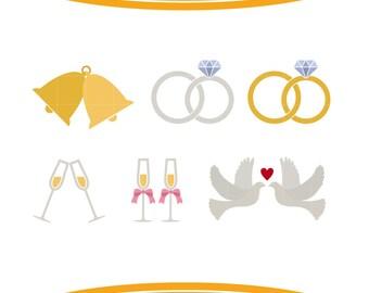 Doves wedding bells | Etsy