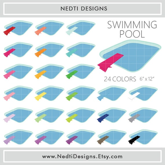24 swimming pool clipart colorful rainbow color diving board clip art png printable supplies for Swimming pool diving board paint kit