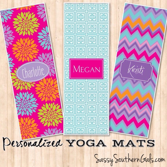 Items Similar To Monogrammed Yoga Mat, Personalized Yoga