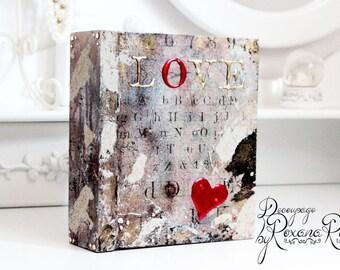Memory box , keepsake box , treasure box , wooden box , decorative box , love box , decoupage , unique box
