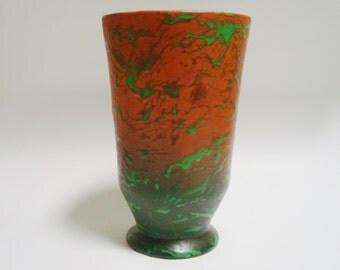 Weller Pottery GREORA Arts & Crafts Vase.  Like Coppertone.