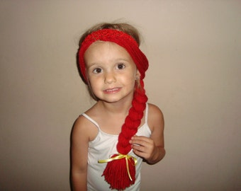 Jessie Toy Story inspired wig headband, great for costumes, dress up, and under cowgirl hats!