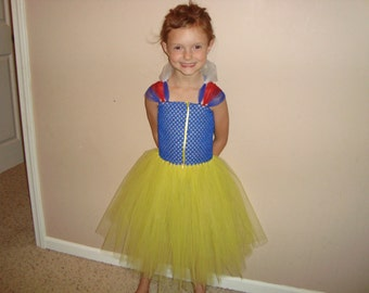 Snow white inspired tutu dress, READY TO SHIP!
