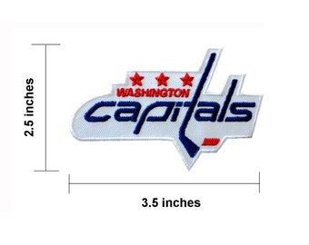 Washington-Capitals Embroidered Iron On Patch.