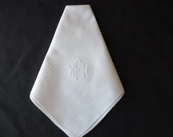 Men's Monogram Handkerchief