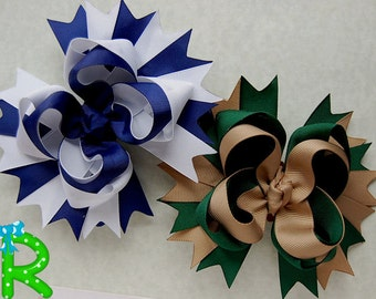 Uniform Hair Bow, Back to school  boutique bow