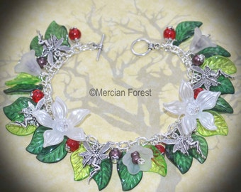 Wild Woods Fairy Bracelet - Handmade Fae, Sidhe, Fairy Jewellery Ideal for Pagan, Wicca, Witch
