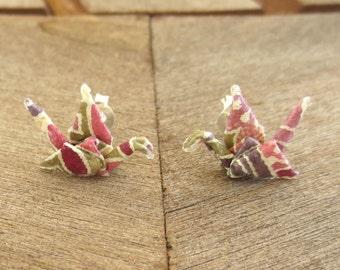 Origami Earring Studs, Origami Jewelry, Cute Earring Studs, Cute Post Earring, Tiny Studs, Kawaii Earring Stud, Origami Post Earring