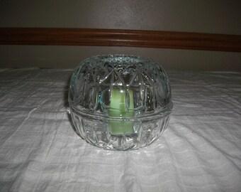 Vintage Glass Hurricane Candle Holder