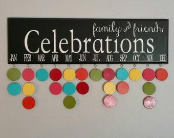 Family & Friends CELEBRATIONS, Birthday Calendar, Family Birthdays, Birthday Board