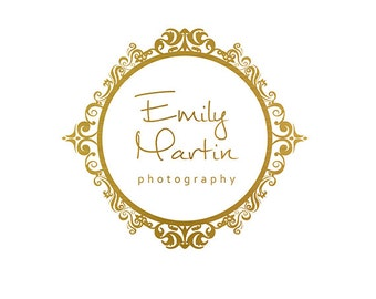 Premade Logo Design & Photography Watermark - Gold Logo Template - Circle Logo - Watermark Design - Gold Photography Logo - Frame Logo 751