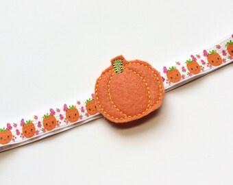 Pumpkin Headband for Fall - Fall Headband for Girls -Thanksgiving Headband - Harvest Headband - Pumpkin Orange Headband - Fall Photo Prop