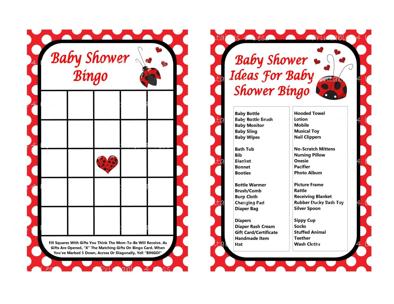 ladybug baby shower game printable ladybug game by printables4less