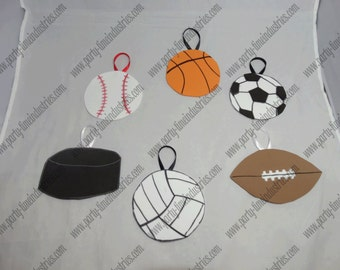 Set of Sports Foam Ornaments