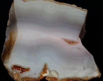Natural Rough Light Blue Banded Agate