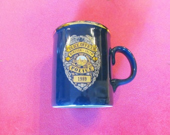 Winston-Salem Police Officers' Mug 100% Soy Upcycled Container Candle - Unscented
