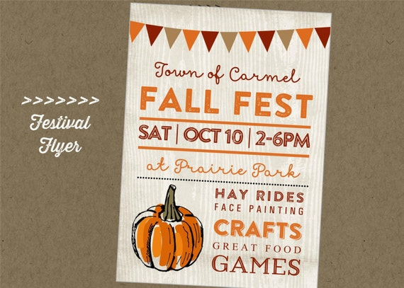 Simplicity image for free printable fall festival flyer templates