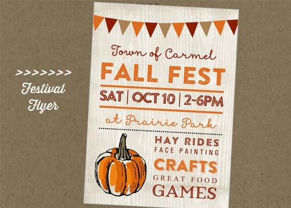 Effortless image inside free printable fall festival flyer templates