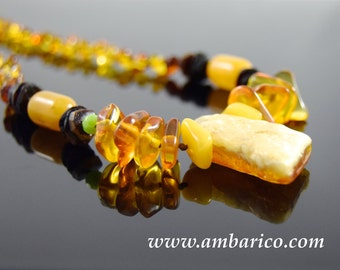 Necklace authentic Baltic amber