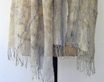 purple haze eco print shawl