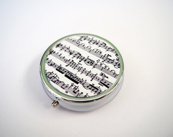 Music Note Pill Case, Pill Box, Pill Holder