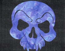 Vampire Skull Quilt Applique Pattern Design PDF