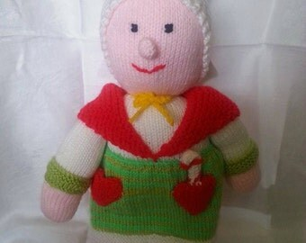 Hand Knitted Mother Christmas