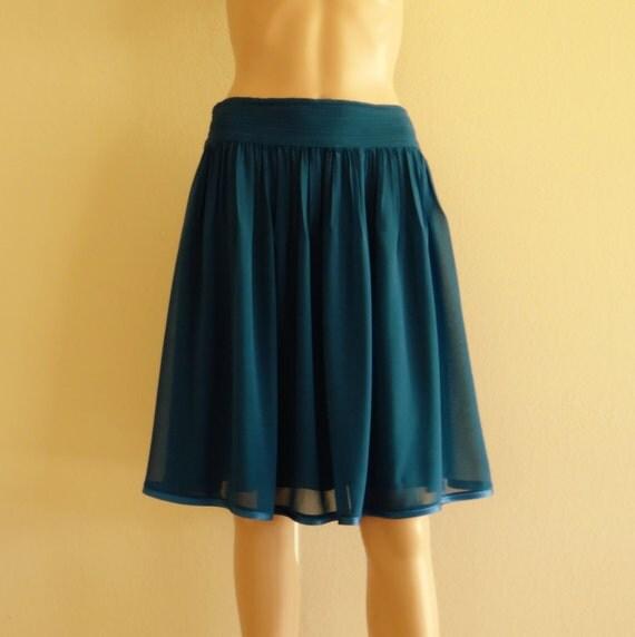 bridesmaid skirt teal blue skirt knee length skirt