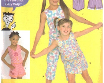 Simplicity Sewing Pattern 9607 Girls' Tops, Pants, Skort, Shorts  Size:  K5  7-8-10-12-14  Uncut