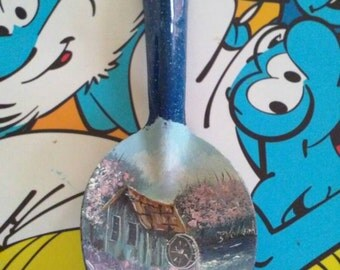 Enamelware spoon art
