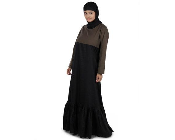 100 katoen abaya jilbab dual color burka daily formal for Islamitische sportkleding vrouwen