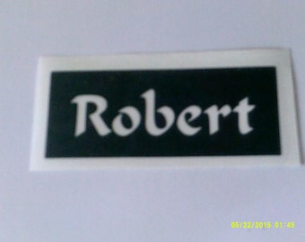 Personalised 'name / word of your choice' stencils for etching on glass special gift  personalized