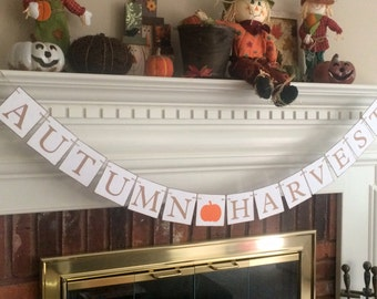 Autumn harvest banner, pumpkin patch banner, halloween decor, halloween decoration, fall decor,fall decorations,pumpkin banner,autumn banner