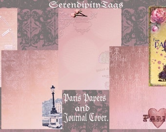 Paris Journal Papers and Cover.