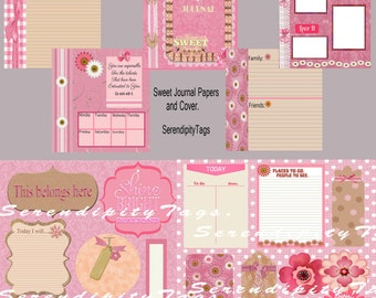 Sweet Journal Papers, Tags and Elements