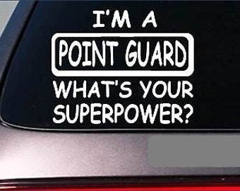"Point Guard Superpower Sticker *G432* 8"" Vinyl Decal Basketball March Madness"