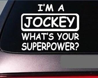 """Jocky Superpower Sticker *G418* 8"""" Vinyl Decal Horse Racing Silks Derby"""